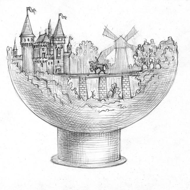 """Чаша для костра """"Возвращение рыцаря домой"""""""